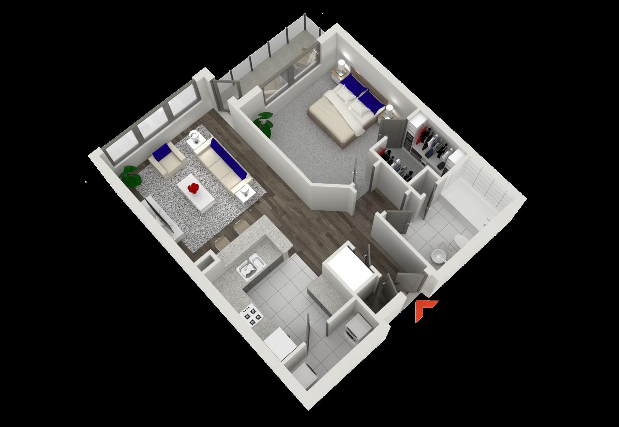 studio 1 2 bedroom apartments in atlanta highland walk
